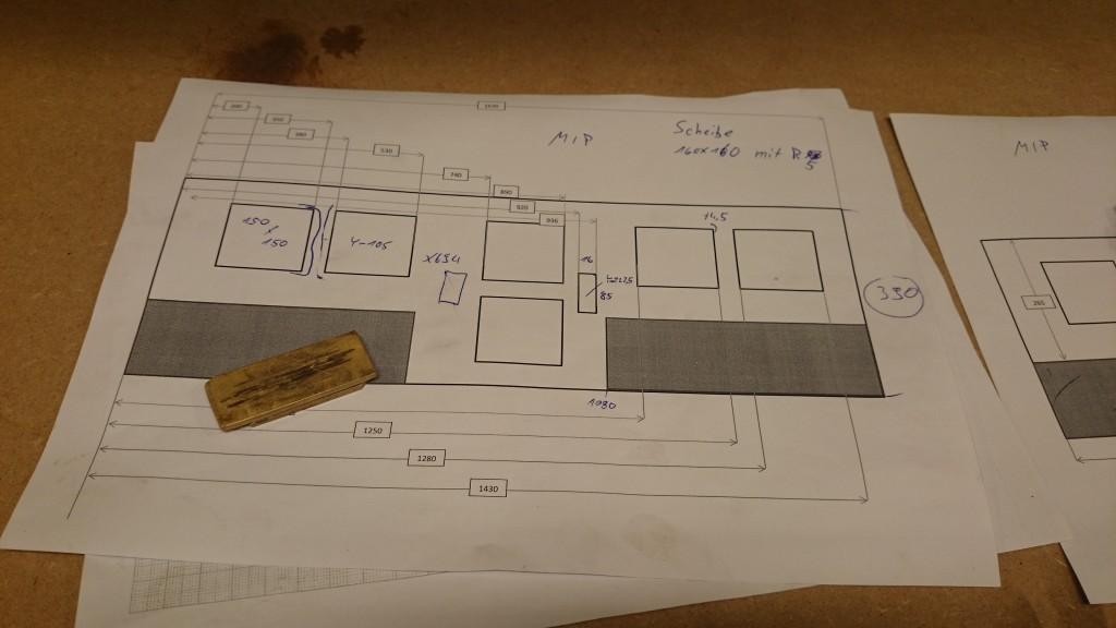 Der Fräsplan für das Main Instrument Panel