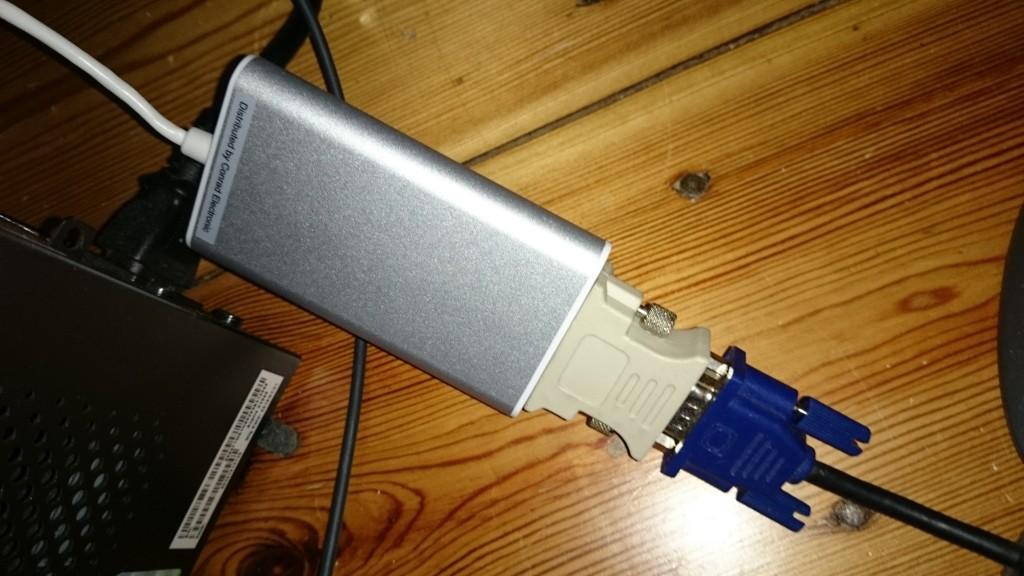Die USB-Grafikkarten hat leider zu wenig Leistung für eine störungsfreie Darstellung.