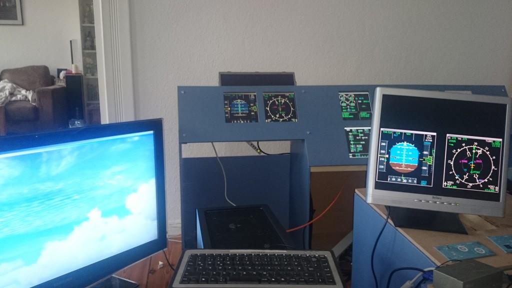 Das Multimonitor-Setup im Simulator