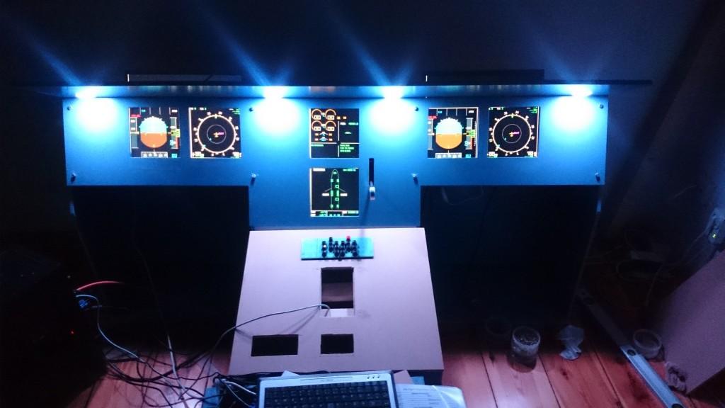 Panel eingebaut und Beleuchtung eingeschaltet